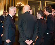 Le Roi Philippe et la Reine Mathilde ont offert le mercredi 15 octobre 2014 un concert d'automne au Palais de Bruxelles. Le Roi et la Reine souhaitent cette année spécialement mettre à l'honneur des initiatives qui construisent des ponts entre l'enseignement et l'entreprise.  À cet effet, ils ont invité en particulier des représentants et des élèves de l'enseignement technique et professionnel, et des entrepreneurs qui œuvrent ensemble dans ce sens. Leurs Altesses Royales le Prince Laurent et la Princesse Claire assisteront également au concert. Le volet musical de celui-ci est organisé en collaboration avec le Festival de Wallonie et le Festival van Vlaanderen sous le signe du 200ème anniversaire d'Adolphe Sax.