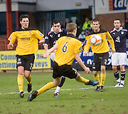 Dundee's Stephen O'Donnell fires in a shot - Dundee v Livingston, IRN BRU Scottish Football League, First Division at Dens Park - ..© David Young - .5 Foundry Place - .Monifieth - .Angus - .DD5 4BB - .Tel: 07765 252616 - .email: davidyoungphoto@gmail.com.web: www.davidyoungphoto.co.uk