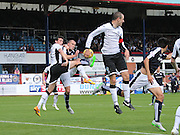 James McPake opens the scoring for Dundee - Dundee v St Johnstone at Dens Park <br /> - Ladbrokes Premiership<br /> <br />  - &copy; David Young - www.davidyoungphoto.co.uk - email: davidyoungphoto@gmail.com