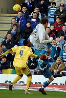 Photo: Ed Godden.<br />Reading v Preston North End. Coca Cola Championship. 25/02/2006. Reading's Dave Kitson colliding with Preston keeper Carlo Nash.