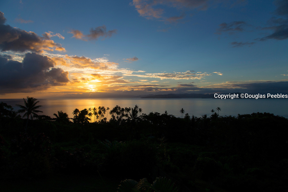 Sunset, Taveuni, Vanua Levu in Background, Fiji