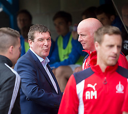 St Johnstone manager Tommy Wright and Falkirk's manager Peter Houston. St Johnstone 3 v 0 Falkirk, Group B, Betfred Cup, played 23/7/2016 at St Johnstone's home ground, McDiarmid Park.