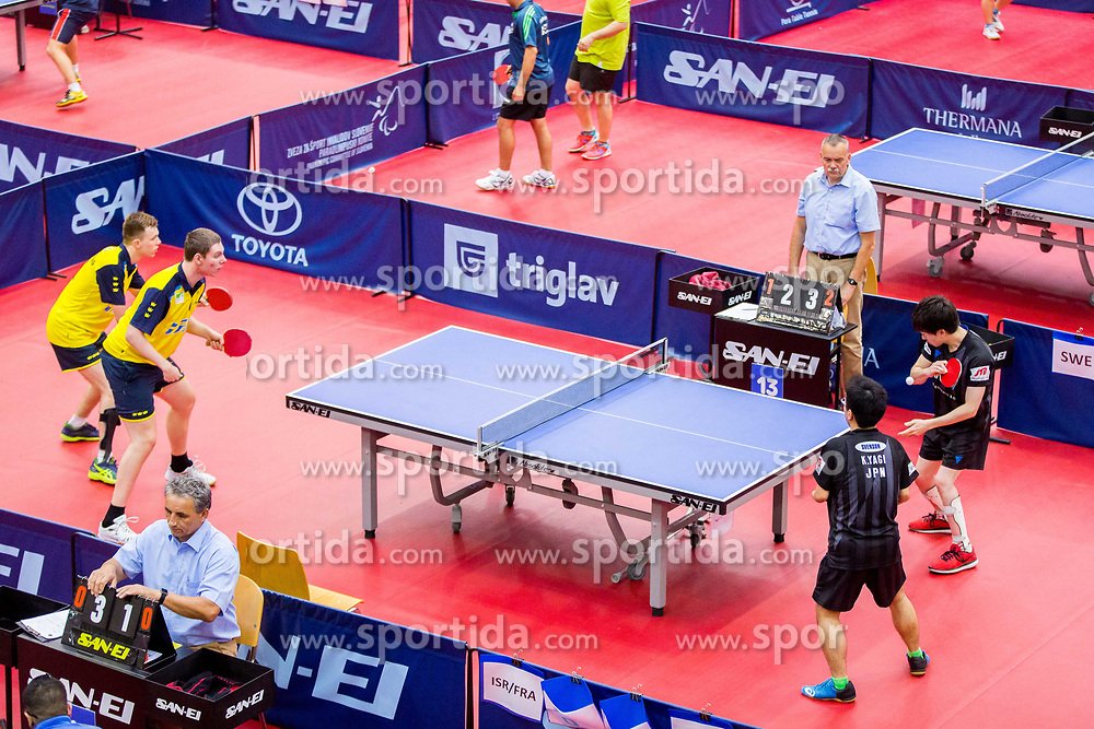 (Team JPN) YAGI Katsuyoshi and KANEKO Kazuya in action during 15th Slovenia Open - Thermana Lasko 2018 Table Tennis for the Disabled, on May 10, 2018 in Dvorana Tri Lilije, Lasko, Slovenia. Photo by Ziga Zupan / Sportida