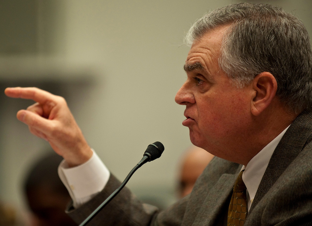 Feb 24,2010 - Washington, District of Columbia USA - .Transportation Secretary Ray LaHood, appears before a Congressional panel Wednesday, and defended the performance of safety regulators in dealing with problems involving Toyota cars, including unintended acceleration..(Credit Image: © Pete Marovich/ZUMA Press)