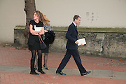 Kate and Ben Goldsmith, Mark Birley funeral. St Paul's , Knightsbridge. London. 19 September 2007. -DO NOT ARCHIVE-© Copyright Photograph by Dafydd Jones. 248 Clapham Rd. London SW9 0PZ. Tel 0207 820 0771. www.dafjones.com.