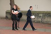 Kate and Ben Goldsmith, Mark Birley funeral. St Paul's , Knightsbridge. London. 19 September 2007. -DO NOT ARCHIVE-© Copyright Photograph by Dafydd Jones. 248 Clapham Rd. London SW9 0PZ. Tel 0207 820 0771. www.dafjones.com.