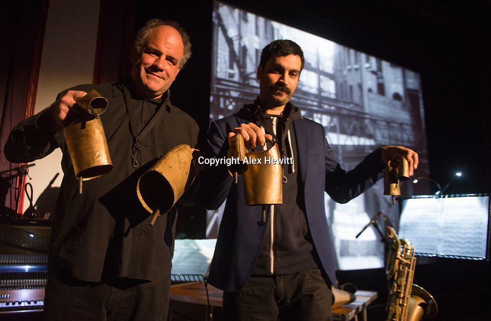 Bo'Ness Hippodrome Festival of Silent Cinema 2017<br /> <br /> Raymond MacDonald and Christian Ferlaino new score for Together<br /> <br /> picture by Alex Hewitt<br /> alex.hewitt@gmail.com<br /> 07789 871 540