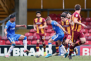 Gillingham midfielder Lee Martin (11) attacking during the EFL Sky Bet League 1 match between Bradford City and Gillingham at the Northern Commercials Stadium, Bradford, England on 24 March 2018. Picture by Mick Atkins.