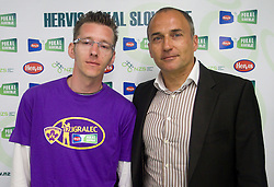 David Ferk, 12th player of NK Maribor and Darko Milanic, coach of NK Maribor during press conference of Hervis Cup 2011, on May 23, 2011 in Stozice, Ljubljana, Slovenia. NK Domzale and NK Maribor will play in the Final of Hervis Cup 2011 at Stozice Stadium.  (Photo By Vid Ponikvar / Sportida.com)