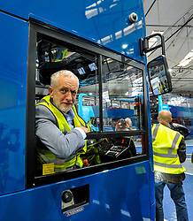 Labour leader Jeremy Corbyn and Scottish Labour leader Richard Leonard at the Alexander Denis factory in Falkirk.<br /> <br /> © Dave Johnston / EEm