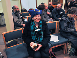 Pictured: A supporter with a European flag hat at the rally.<br /> <br /> Supporters for a People's Vote on Brexit held a Rally for Europe in Edinburgh on Saturday. Prominent speakers included Mike Russell, Labour MEP Catherine Stihler, economist Anton Muscatelli.<br /> <br /> © Dave Johnston / EEm