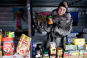 A street vendor sells borscht outside Kiev, the capital of Ukraine. Borsht is a traditional Ukrainian cuisine that has spreaded via Russia throughout the former Soviet sphere.