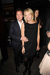 MATTHEW FREUD and ELISABETH MURDOCH  at a dinner to celebrate the work of Malaria No More UK held at Hakkasan Mayfair, 17 Bruton Street, London W1 on 16th November 2010.