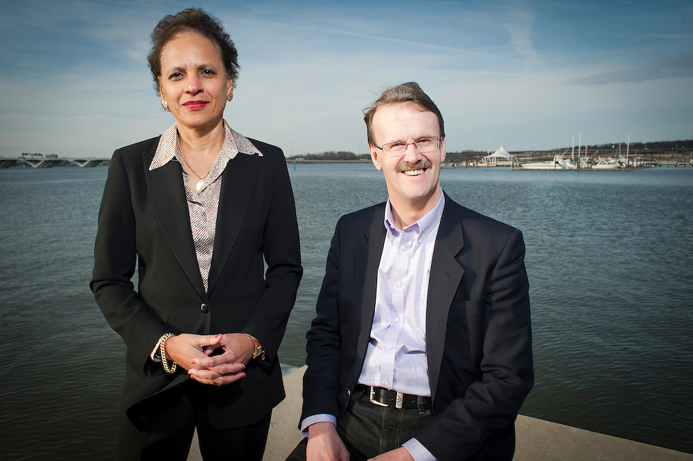 John Young and Claudette Christian, Co-CMOs of the Hogan Lovells law firm, photographed at the Gaylord Conference Center at the National Harbor, Maryland.