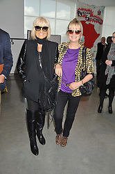 Left to right, BARBARA HULANICKI and TWIGGY at the ASAP (African Solutions to African Problems) Lunch held at the Louise T Blouin Foundation, 3 Olaf Street, London W11 on 15th May 2012.