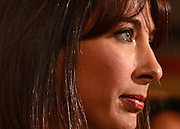 © Licensed to London News Pictures. 10/10/2012. Birmingham, UK Samantha Cameron listens to David Cameron talk about Ivan, their son who died in 2009. Prime Minister David Cameron delivers his keynote speech at The Conservative Party Conference at the ICC today 10th October 2012. Photo credit : Stephen Simpson/LNP