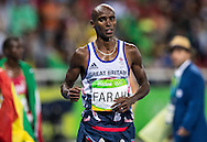 Mo Farah of Great Britain takes Gold to retain his title in the Men's 10,000m on day eight of the XXXI 2016 Olympic Summer Games in Rio de Janeiro, Brazil.<br /> Picture by EXPA Pictures/Focus Images Ltd 07814482222<br /> 13/08/2016<br /> *** UK & IRELAND ONLY ***<br /> <br /> EXPA-GRO-160814-5311.jpg