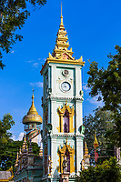 tower clock of the Thanboddhay Phaya near Monywa Myanmar (Burma)