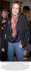 Model SOPHIE ANDERTON at a party in London on 24th September 2002.			PDK 68