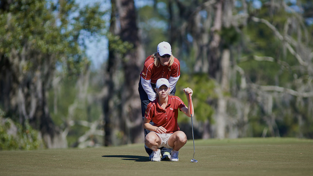 Tallahassee - FL - February 16, 2014: <br /> <br /> FSU Women's Golf host the Matchup 2014 at Southwood Golf Course on February 16, 2014 in Tallahassee, FL. <br /> <br /> &copy;2014 Perrone Ford / PTFPhoto.com