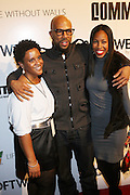 l to r: Kenyatta Bynum, Common and Nia Andrews at the Common Celebration Capsule Line Launch with Softwear by Microsoft at Skylight Studios on December 3, 2008 in New York City..Microsoft celebrates the launch of a limited-edition capsule collection of SOFTWEAR by Microsoft graphic tees designed by Common. The t-shirt  designs. inspired by the 1980's when both Microsoft and and Hip Hop really came of age, include iconography that depicts shared principles of the technology company and the Hip Hop Star.