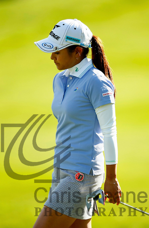 17 May 2012: Ai Miyazato reacts after loosing her match during the first round of match play at the Sybase Match Play Championship at Hamilton Farm Golf Club in Gladstone, New Jersey on May 17, 2012.  (Photo by Chris Keane - www.chriskeane.com)