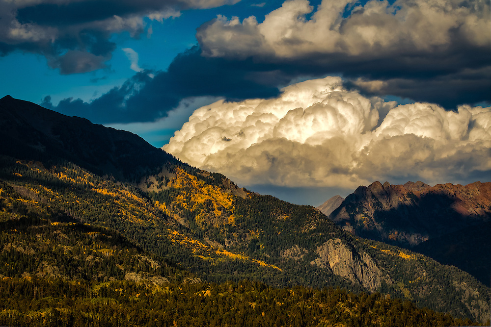 Clouds Gather Over The Rockies