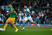 Bradley Johnson of Blackburn Rovers   during the EFL Sky Bet Championship match between Blackburn Rovers and Preston North End at Ewood Park, Blackburn, England on 11 January 2020.