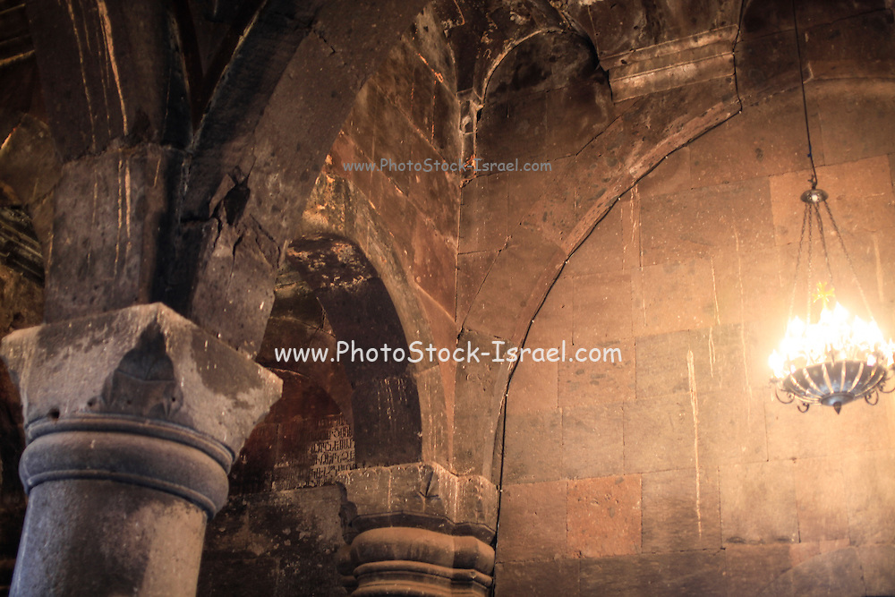 interior Vahramashen Church (also commonly referred to as Surb Astvatsatsin or the Church of Amberd), Aragatsotn Province, Armenia