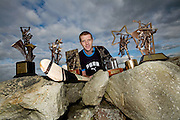 18/10/07.Henry Sheflin pictured with his 6 All Atar awards..Picture Dylan Vaughan.