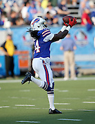 Buffalo Bills wide receiver Sammy Watkins (14) catches a pre game pass as he warms up before the 2014 NFL Pro Football Hall of Fame preseason football game against the New York Giants on Sunday, Aug. 3, 2014 in Canton, Ohio. The Giants won the game 17-13. ©Paul Anthony Spinelli