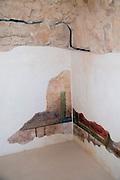 Israel, Massada Stucco wall decoration in the Commandant's Headquarters
