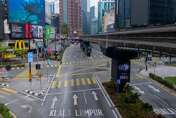 March 22, 2020, Kuala Lumpur, Malaysia: Empty road during day five of Movement Control Order (MCO) enforcement. Malaysia is under 14 days partial lockdown as the government enforce the order for people to stay home in an attempt to curb the coronavirus outbreak amid the ongoing Covid-19 pandemic. (Credit Image: © Zahim Mohd/NurPhoto via ZUMA Press)
