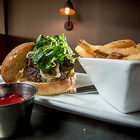 The Foragers Burger at The State restaurant in Redlands, Thursday, Feb., 26, 2015.  (Eric Reed/Redlands Magazine)