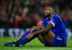 Wes Morgan of Leicester City looks dejected - Mandatory by-line: Matt McNulty/JMP - 30/12/2017 - FOOTBALL - Anfield - Liverpool, England - Liverpool v Leicester City - Premier League