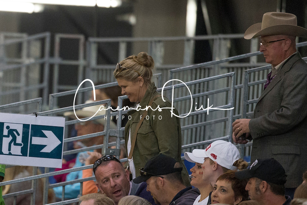 Corine Schumacher  visiting the competition - Team Competition and 1st individual qualifying  - Alltech FEI World Equestrian Games™ 2014 - Normandy, France.<br /> © Hippo Foto Team - Dirk Caremans<br /> 25/06/14