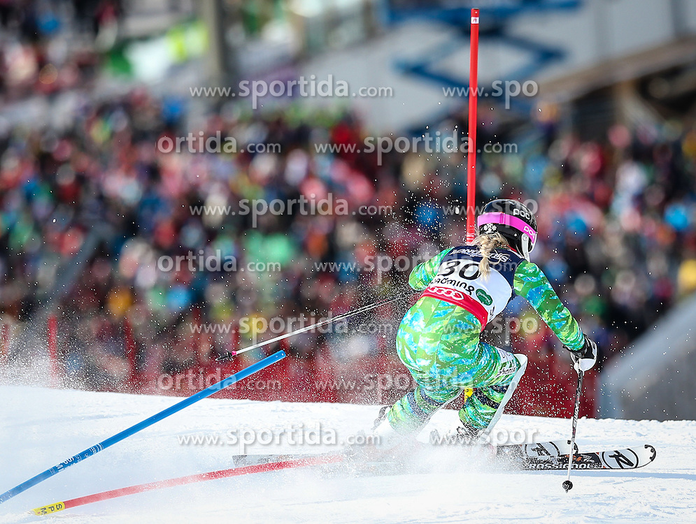 08.02.2013, Planai, Schladming, AUT, FIS Weltmeisterschaften Ski Alpin, Super Kombination, Slalom, Damen, im Bild Ragnhild Mowinckel (NOR) // Ragnhild Mowinckel of Norway  in action during Ladies Super Combined Slalom at the FIS Ski World Championships 2013 at the Planai Course, Schladming, Austria on 2013/02/08. EXPA Pictures © 2013, PhotoCredit: EXPA/ Johann Groder