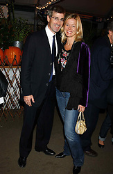 MR TIM & LADY HELEN TAYLOR at an exclusive evening featuring the greatest talents in fashion today in aid of the African children who have been affected bt the AIDS epidemic held at the Chelsea Gardener, Sydney Street, London on 20th September 2004<br />