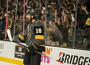 Vegas Golden Knights left wing James Neal (18) during the 5th game of their NHL playoff series  at the T-Mobile Arena Friday, May 4, 2018, in Las Vegas.