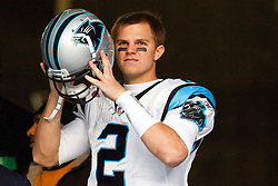December 5, 2010; Seattle, WA, USA;  Carolina Panthers quarterback Jimmy Clausen (2) enters the field before the game against the Seattle Seahawks at Qwest Field.