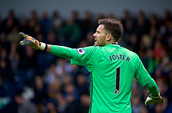 WEST BROMWICH, ENGLAND - Easter Sunday, April 16, 2017, 2016: West Bromwich Albion's goalkeeper Ben Foster in action against Liverpool during the FA Premier League match at the Hawthorns. (Pic by David Rawcliffe/Propaganda)