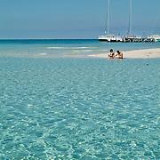 Couple on the beach..Isla Mujeres, Quintana Roo..Mexico.