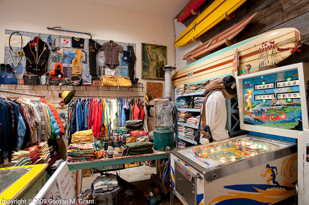 Montauk, NY - 6/5/09 -   Interior of Melet Merchantile, a new shop, owned by Bob Melet, that recently opened in an industrial park in Montauk, NY June 5, 2009.     (Photo by Gordon M. Grant)