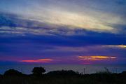 The coastline near Lassi, Cephalonia, Ionian Islands, Greece at sunset