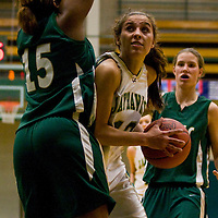 Jamestown Community College's Madeline Apperson during basketball action 12-2-11 Photo by Mark L. Anderson