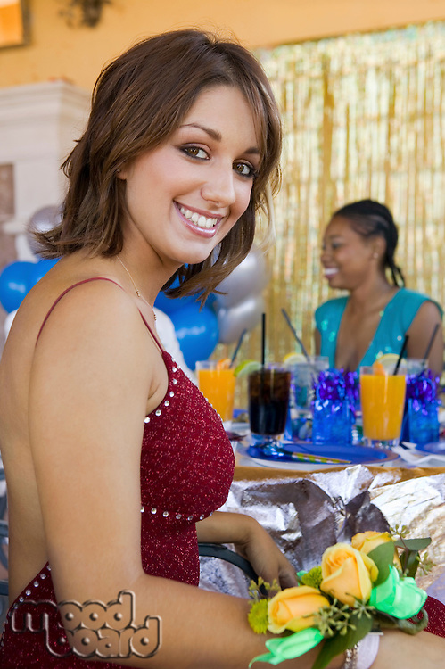 Girl at School Party