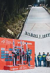 19.01.2020, Hochfirstschanze, Titisee Neustadt, GER, FIS Weltcup Ski Sprung, Siegerehrung, im Bild 2. Platz Ryoyu Kobayashi (JPN), Sieger Dawid Kubacki (POL), 3. Platz Timi Zajc (SLO) // 2nd placed Ryoyu Kobayashi of Japan Winner Ryoyu Kobayashi of Japan 3rd placed Timi Zajc of Slovenia during the winner ceremony for the FIS Ski Jumping World Cup at the Hochfirstschanze in Titisee Neustadt, Germany on 2020/01/19. EXPA Pictures © 2020, PhotoCredit: EXPA/ JFK