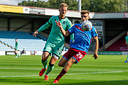 George Miller of Scunthorpe United during the EFL Sky Bet League 2 match between Scunthorpe United and Carlisle United at Sands Venue Stadium, Scunthorpe, England on 31 August 2019.