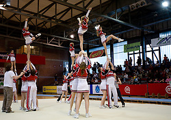 "Flip cheerleading group at event ""Slovenian Gymnastics stars"" after the European Championships in Milano, on April 6, 2009, in Hall Slovan, Kodeljevo, Ljubljana, Slovenia. (Photo by Vid Ponikvar / Sportida)"
