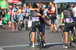Cylance Pro Cycling DS Manel Lacambra celebrates the win with Rossella Ratto (ITA) on Stage 2 of the Madrid Challenge - a 100.3 km road race, starting and finishing in Madrid on September 16, 2018, in Spain. (Photo by Balint Hamvas/Velofocus.com)